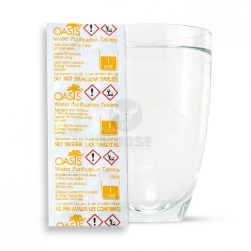 Víz fertőtlenítő tabletta - 10 db - 8.5 mg Troclosene sodium (Nátrium-diklór-izocianurát - DCCNa)
